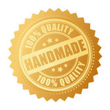 Handmade product. Handmade quality product seal on white background Royalty Free Stock Photography