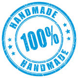 Handmade product rubber stamp Stock Photo
