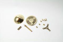 Handmade przędzalniany wierzchołek z przekładniami fotografia stock