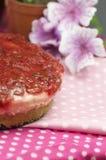 Handmade pulm cake Royalty Free Stock Image