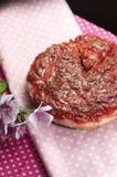 Handmade pulm cake Stock Image