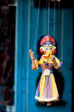 Handmade puppetry in Nepal. A handmade puppetry picture taken in Kathmandu, Nepal Stock Images