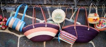 Handmade purses Royalty Free Stock Photos