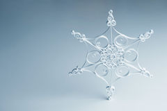 Handmade quilling snowflake - Christmas decoration Royalty Free Stock Photography