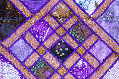 Handmade quilt from India Royalty Free Stock Photo