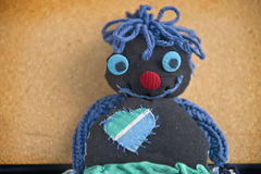 Handmade rag doll Royalty Free Stock Photography