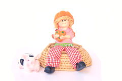 Handmade Rag Dolls - Stock Image Royalty Free Stock Photo