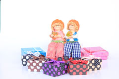 Handmade Rag Dolls - Stock Image Stock Photos