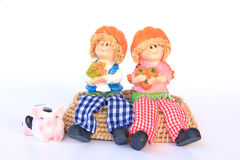 Handmade Rag Dolls - Stock Image Royalty Free Stock Photography