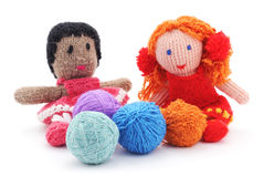 Handmade rag dolls. Stock Photos
