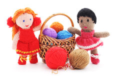 Handmade rag dolls. Royalty Free Stock Images