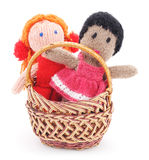 Handmade rag dolls. Royalty Free Stock Image