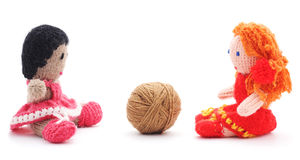 Handmade rag dolls. Stock Images