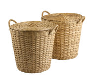 Handmade rattan basket Stock Images