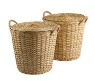 Handmade Rattan Basket Stock Images