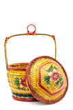 Handmade rattan basket Stock Image