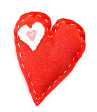 Handmade red heart Stock Photos