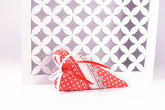 Handmade red heart Valentines day Royalty Free Stock Photography