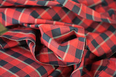 Handmade red silk Stock Photo