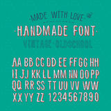 Handmade retro alphabet Royalty Free Stock Photos