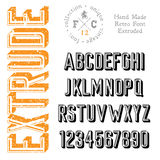 Handmade retro font Stock Photo