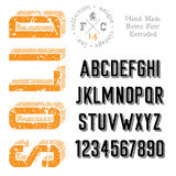 Handmade retro font Royalty Free Stock Images