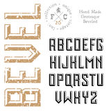 Handmade retro font Royalty Free Stock Photo