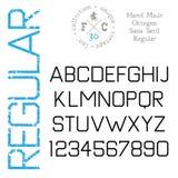 Handmade retro font Royalty Free Stock Photography