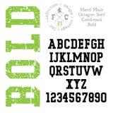 Handmade retro font Stock Photos