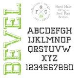 Handmade retro font. Stock Image