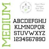 Handmade retro font Royalty Free Stock Photo