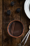 Handmade Rich Chocolate Tartlets Stock Photography