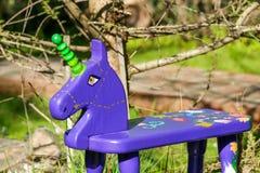 Handmade rocker horse toy. Stock Photos