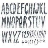 Handmade Roman alphabet Stock Images