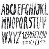 Handmade Roman alphabet Stock Photo