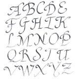 Handmade Roman alphabet Royalty Free Stock Photos