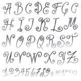 Handmade Roman alphabet Stock Photos