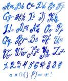 Handmade Roman alphabet Royalty Free Stock Images