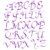 Handmade Roman alphabet Stock Photography