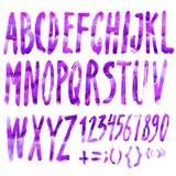Handmade Roman alphabet Royalty Free Stock Photo