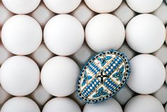 Handmade romanian decorated easter egg Royalty Free Stock Photography