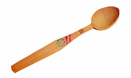 A handmade Romanian wooden spoon Stock Images