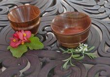 Handmade Rosewood Bowls Royalty Free Stock Image