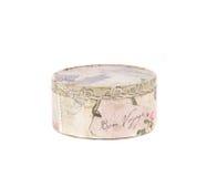 Handmade round gift box. Royalty Free Stock Image