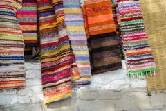 Handmade rugs of La Alpujarra in Capileira, Spain Royalty Free Stock Photography