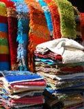 Handmade rugs, Pampaneira, Spain. Locally made rugs for sale, whitewashed village (pueblo blanco), Pampaneira, Las Alpujarras, Granada Province, Andalusia Royalty Free Stock Image