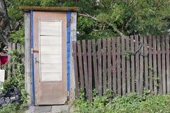 Handmade  rural  toilet Stock Images