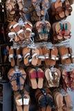 Handmade rzemienni sandały zdjęcia royalty free