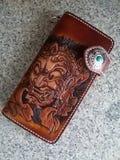 Handmade rzemienny portfel Zdjęcie Stock