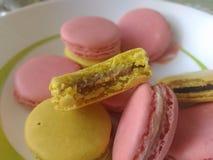 Handmade słodcy macarons obrazy stock